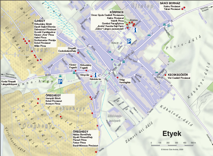 etyek térkép Etyeki Borangoló   Térkép etyek térkép